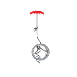 VA-13599 Vadigran Juego de postes + cable de fijación 4,5 m. Máximo 50 kilos para perros Cordón y estaca