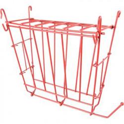 Flamingo FL-210172 Râtelier à nourriture refermable + support à fruit 17 x 8.5 x 20 cm pour rongeur. couleur rouge Bowls, dis...