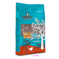 emma's garden schwarze Sonnenblumenkerne für Vögel. Beutel 2,75 Kilo VA-417050 Essen und Trinken