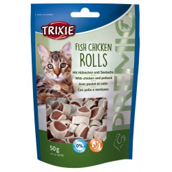 Trixie TR-42702 chicken/colin rolls 50 gr cat treat Nourriture
