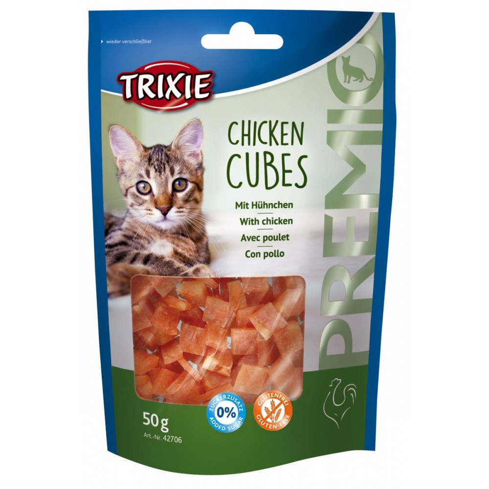 Cubes de poulet 50 gr pour chat Friandise Trixie TR-42706