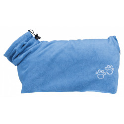 Trixie TR-23481 Blue microfiber bathrobe. for XS dogs. Care and hygiene
