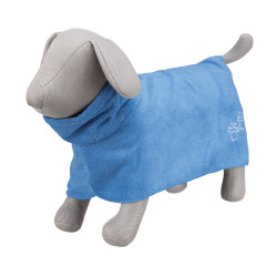 Trixie TR-23484 Peignoir en microfibre bleu. pour chien. taille L. Care and hygiene