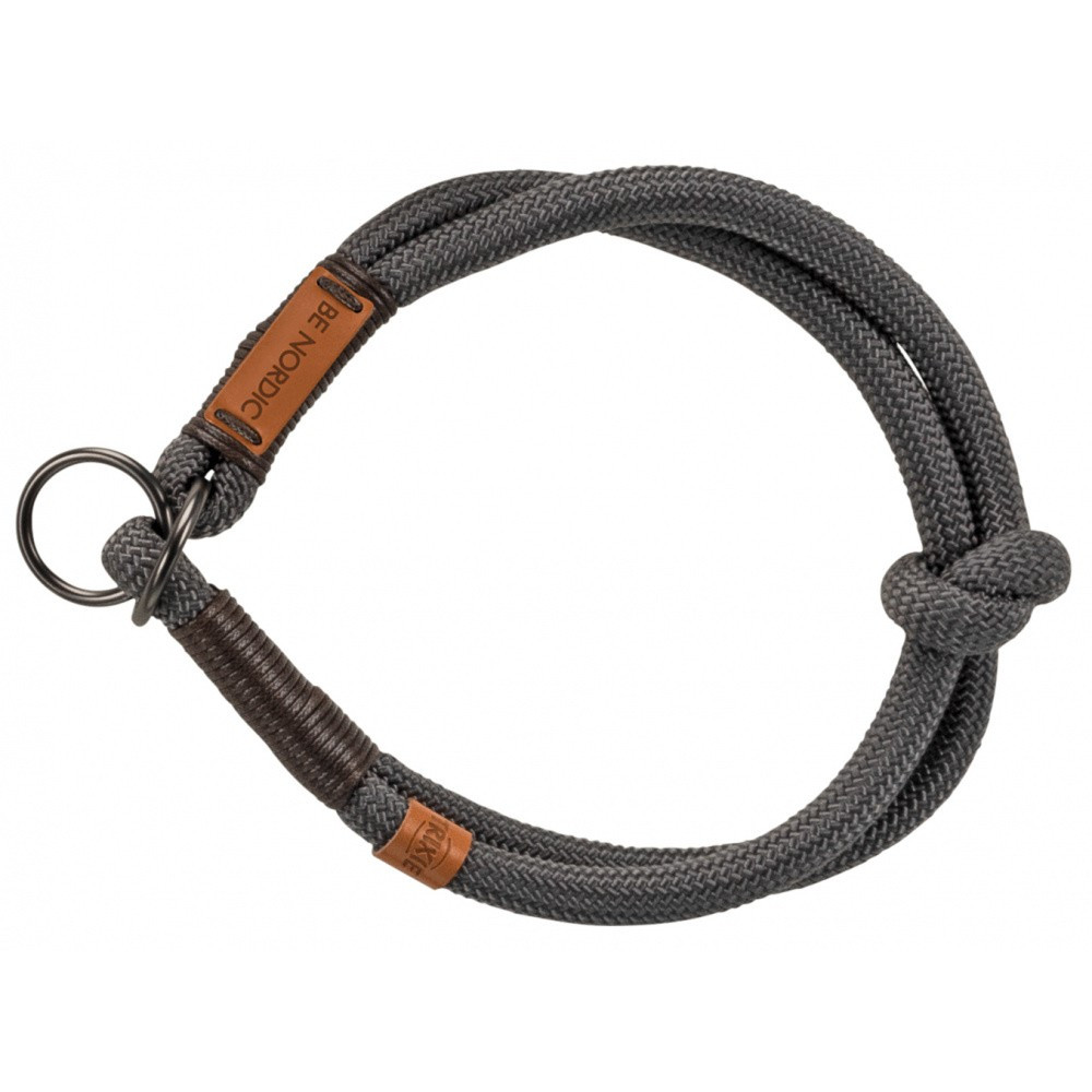 Trixie TR-17261 Traction reducer collar for dogs. Size S-M. BE NORDIC dark grey. Necklace