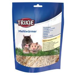 Trixie Larven von getrockneten Mehlwürmern 70 gr TR-60792 Snacks und Nahrungsergänzungsmittel