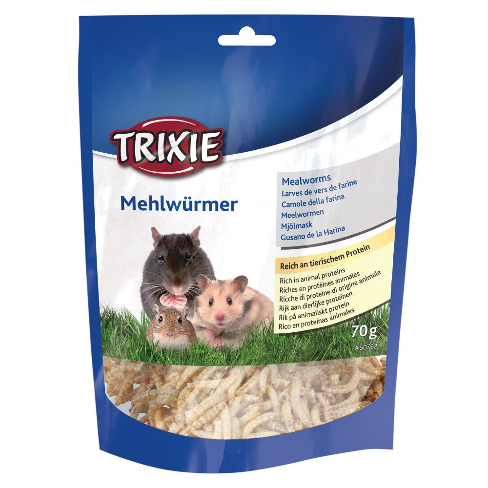 TR-60792 Trixie Larvas de gusano de la harina seca 70 gr. Friandise