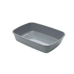 savic Bac à litière IRIZ 42. pour chat. 42 x 30 x 10 cm . couleur gris anthracite. VA-2744 Bacs a litière