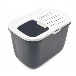 savic HOP In. top entry 58 x 39 x 40 cm. grey . for cat Toilet house