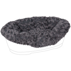 Flamingo Pet Products CUDDLY cover for DOMUS bed. 80/90 cm. grey color, for dog. Panier plastique chien