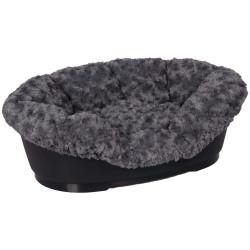 Flamingo Pet Products Cover CUDDLY for domus bed 50/60 cm grey Panier plastique chien