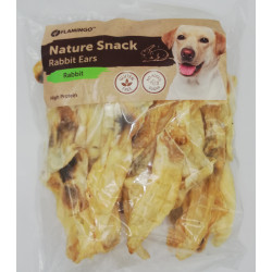 Snack nature Oreilles de lapin 200 gr. pour chien Friandise chien  Flamingo FL-519605