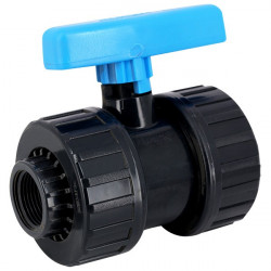 Plimat 2'' vanne à boisseau à visser PVC pression. SO-VAV2 Vanne