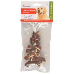 FL-516568 Flamingo Friandise pour chien. agneau et riz .90 gr. DUETTO Bones. Nourriture