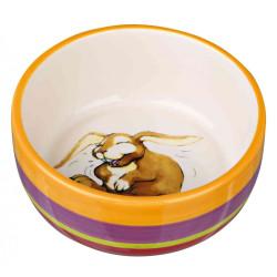 Trixie Ecuelle en céramique 250 ML ø 11 cm. pour lapins TR-60803 Gamelles, distributeurs