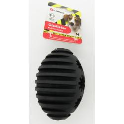 FL-519725 Flamingo Pet Products Juguete para perro. Gladiador Rugby M. Negro 10 cm ø 7.3 cm. extra fuerte Juegos de caramelos...