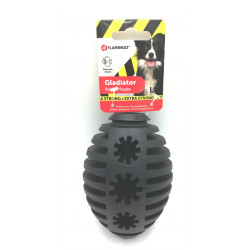 Flamingo Hundespielzeug. Gladiator Rugby L. Schwarz 12 cm ø 8,5 cm. extra stark FL-519726 Belohnen Sie Süßigkeiten-Spiele