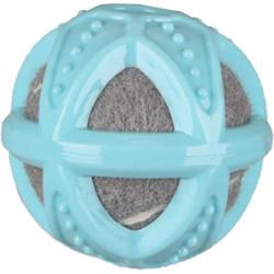1 balle TPR avec balle de tennis. pour chiot. LOEKIE. ø 8 cm couleur bleu , gris Chiot Flamingo FL-519713