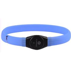 Flamingo Jumbo-Halskette von 35 bis 64 cm. visio light LED. Farbe blau FL-519765 Halskette