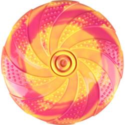 Flamingo Jouet pour chien. Frisbee ZAZA. TPR. ø18 cm. jaune et rose. FL-519727 Jouet