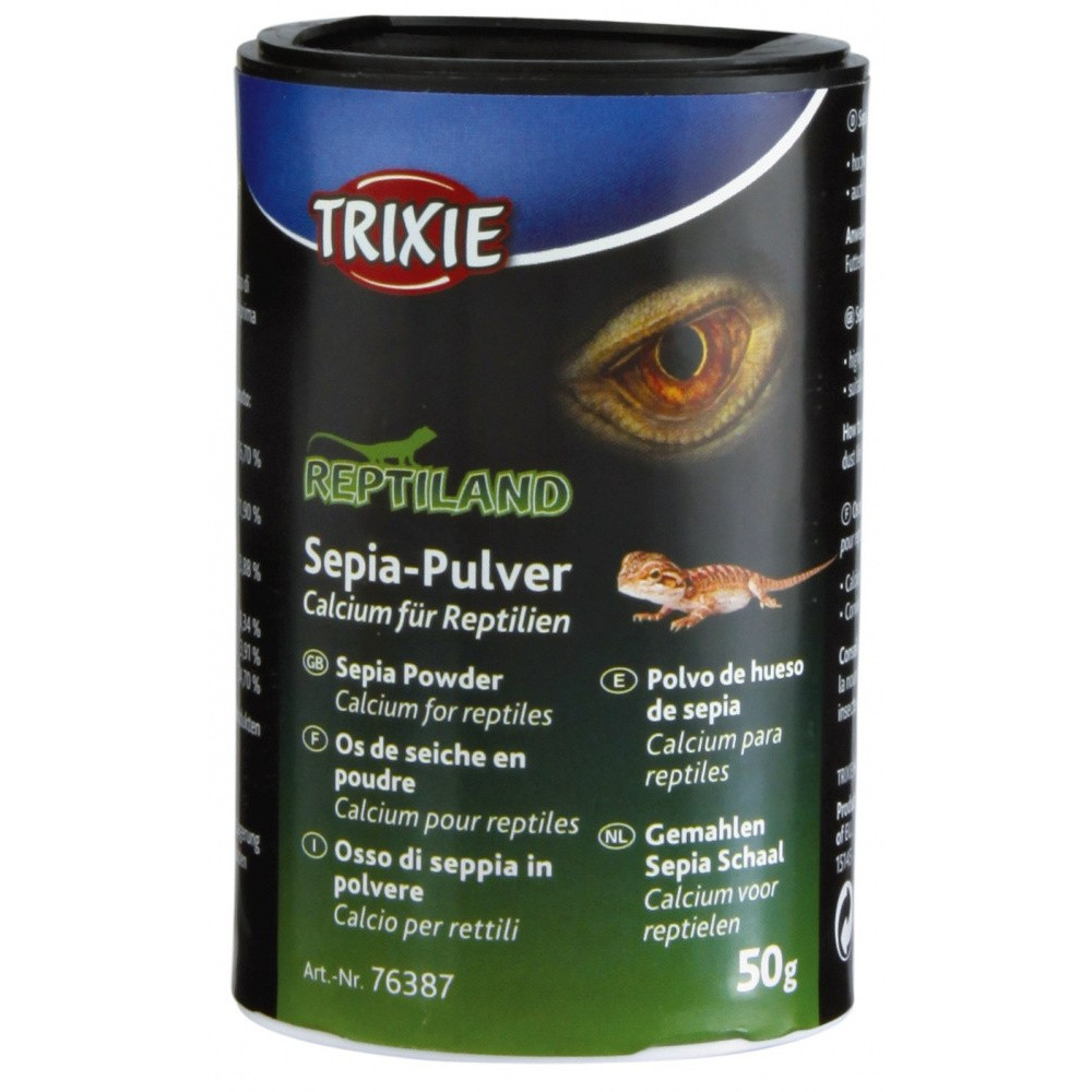 Trixie 76387 Os de seiche en poudre Calcium pour reptile