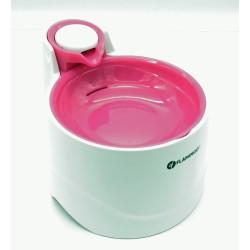 FL-518216 Flamingo Pet Products Fuente de agua BELLAGIO 2 litros. para perros y gatos. color rosa. Fuente