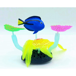 Flamingo FL-410344 Decoration Aquarium fluo blue fish. 14 x 5 x 9 cm. random color. Decoration and other