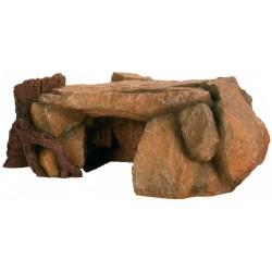 Plateau de roche avec souche 25 cm Décoration et autre  Trixie TR-8847