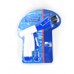 astralpool FLU-T914 Brush for Cleaning pool filter cartridge this branch with the garden hose. Pool filtration