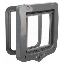 Trixie TR-44202 2 position cat flap grey, 20 × 22 cm outside. for cats. Cat flap