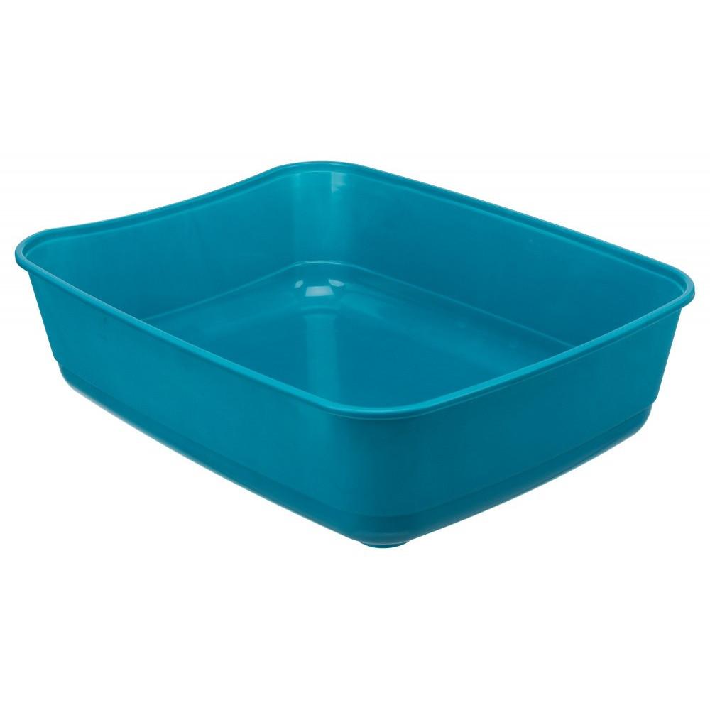 TR-40306 Trixie Bac à litière Classic, couleur bleu pétrole, taille 36 par 46 et 12 cm H pour chat Cajas de arena