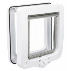 Trixie TR-44211 Cat flap 4 positions 20 x 22 cm total outside. white color. for cats. Cat flap