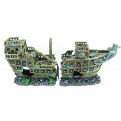 Trixie épave 2 pieces 57 cm décoration poisson TR-8744 Décoration et autre