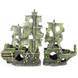 Flamingo FL-410152 herald, wreck in two parts, size: 45 x 13 x 34 cm, Aquarium decoration Decoration and other
