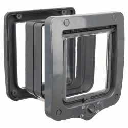 Trixie Cat flap 4 positions with tunnel 20 × 22 cm ext grey. for cat Cat flap