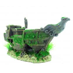 Barco naufragado, KOZMA, tamanho: 32 x 13 x 16 cm, decoração de aquário FL-410192 Decoração e outros
