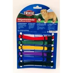 6 colliers M-L 22 à 35 cm x 10 mmpour chiot. couleurs différentes Collier Trixie TR-15555