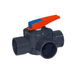 FLU-15765 Cepex ø 50 mm, válvula de tres vías. Válvula de piscina