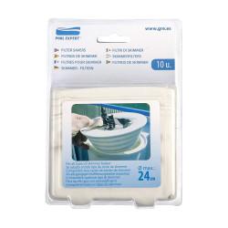 GRE Filtres pour skimmer, Pack de 10 filtres pour skimmer. Filtration piscine