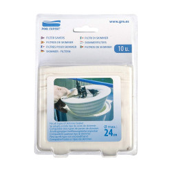FLU-40045 GRE Filtres pour skimmer, Pack de 10 filtres pour skimmer. Filtración de piscinas
