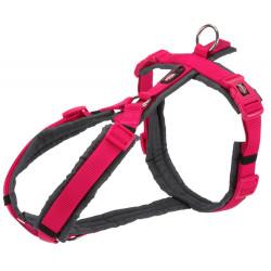 Trixie harnais trekking pour chien. taille S- M.  couleur : rose et gris TR-1997111 harnais chien