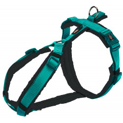 Trixie TR-1997212 trekking harness for dog. size M . color: green / black. dog harness