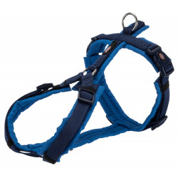 Trixie TR-1997313 trekking harness for dog. size M-L. color indigo/royal blue dog harness