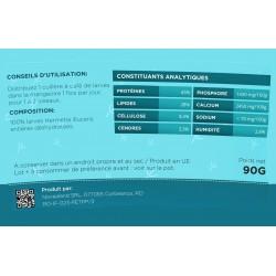 novealand Larve intere disidratate per i vostri uccelli vasetti da 90 grammi - cibo supplementare ENT-90-O Mangiare e bere
