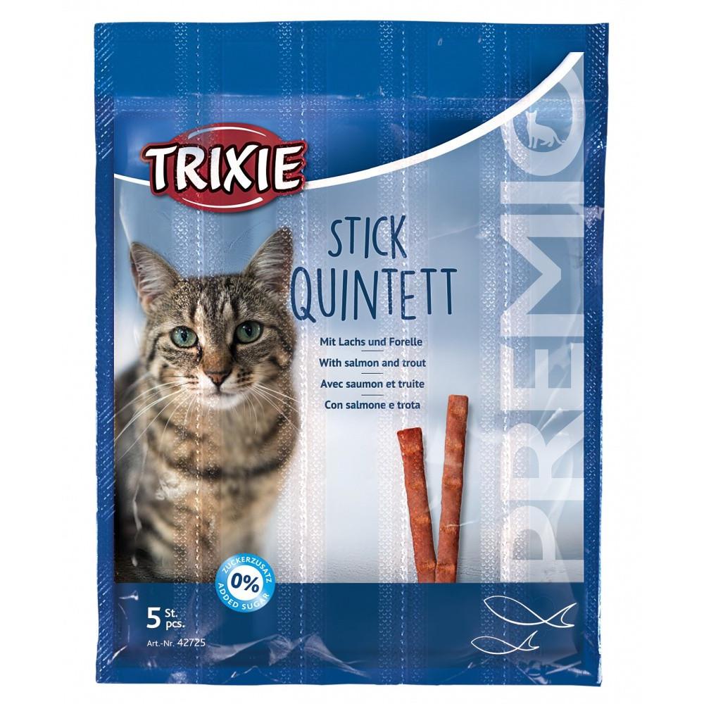 TR-42725 Trixie 5 palitos de salmón y trucha para los gatos. Nourriture