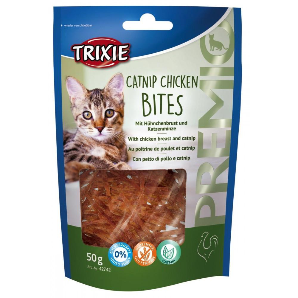 Trixie Bouchées de poulet à l'herbe à chat 50 gr pour chat TR-42742 Friandise chat