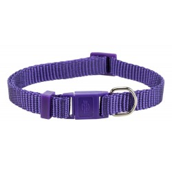 Trixie TR-41744 Premium cat collar. Colour Purple. collier laisse cage