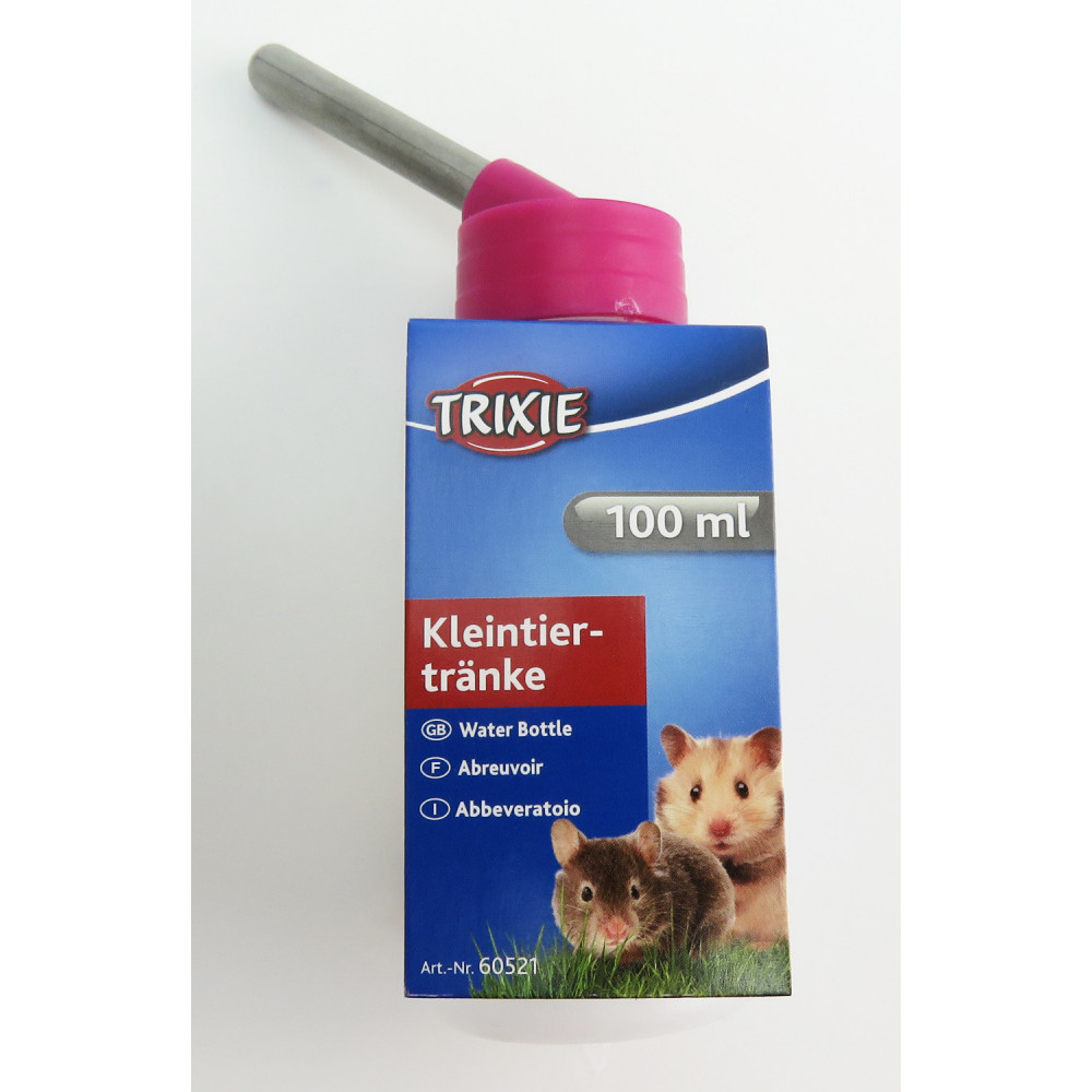 Trixie TR-6052 100 ML plastic feeding bottles with metal holder. for Hamsters or gerbils. random colours. Bowls, distributors