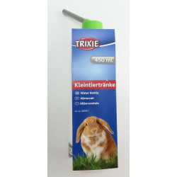 Trixie TR-6054 a plastic bottle 450 ml. with metal support. for chinchillas, rabbits . random colors. Bowls, distributors