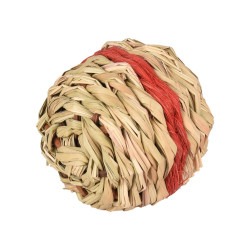 Flamingo FL-210163 1 Red wicker ball with bell ø 8 cm . rodent games. Games, toys, activities