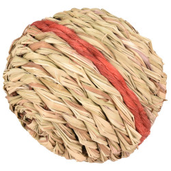Flamingo FL-210164 1 Red wicker ball with bell ø 12 cm . rodent games. Games, toys, activities